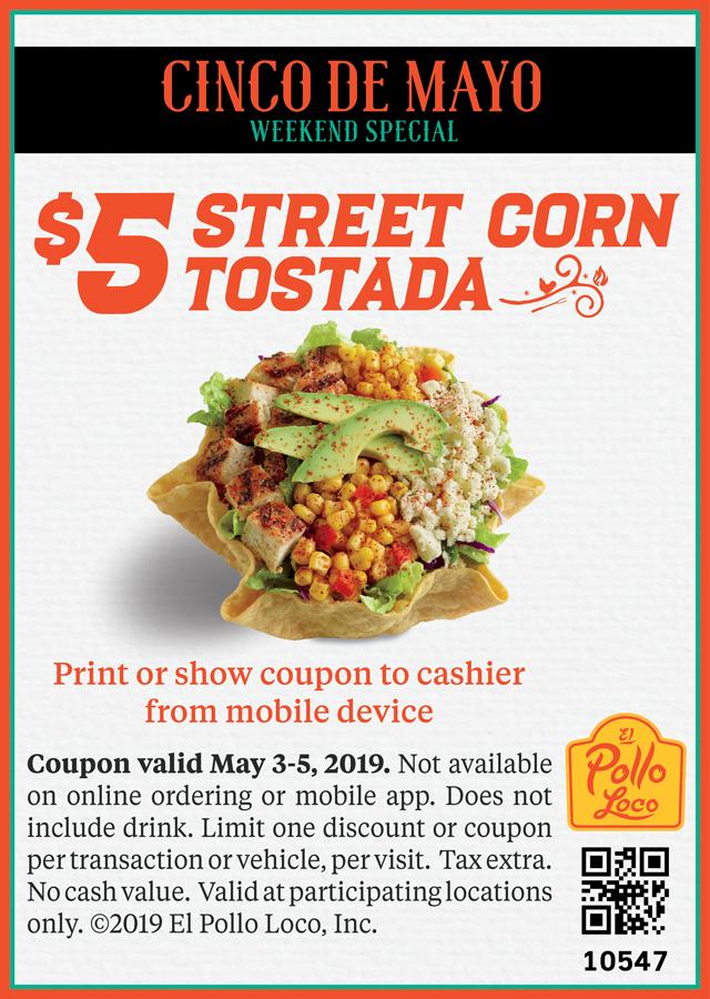 5$ Street Corn Tostada